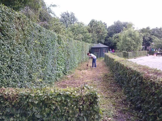 In 2014 was dit nog een verwilderd stuk tuin