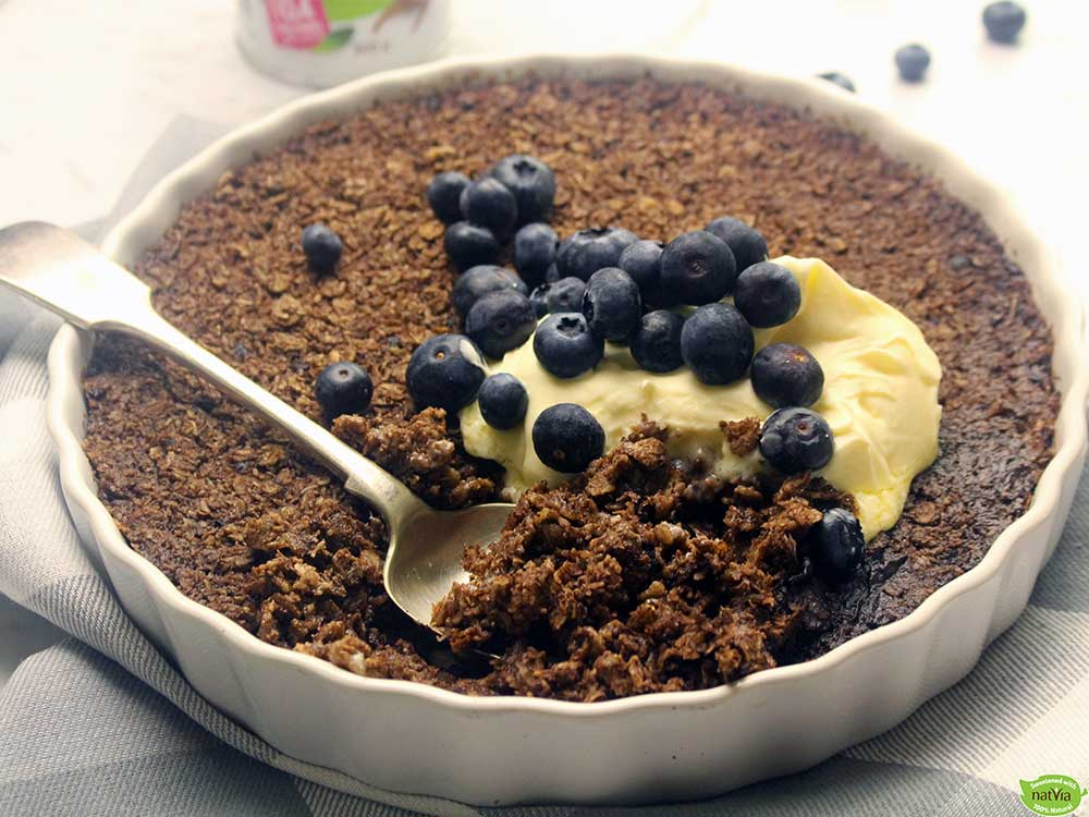 Chocolate Coconut Baked Oats