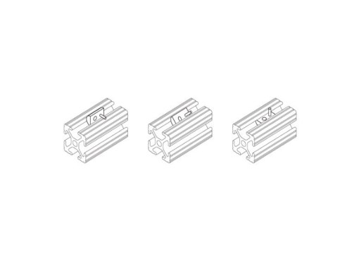 Tuerca T Roll-In V-Slot C-Beam T-Slot serie 20 Spring loaded Tee nuts, Natytec.