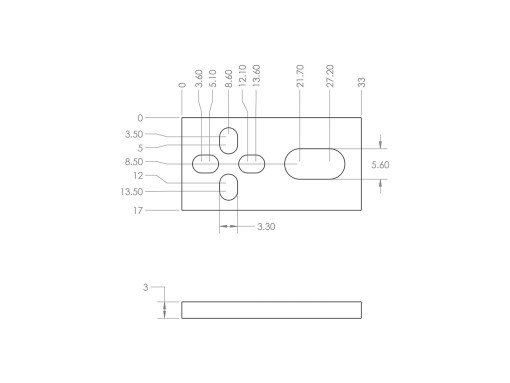 Interruptor de límite mecánico kit, Natytec.
