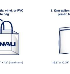 nau branded or similar clear drawstring bags no larger than 16 x [ 5201 x 1376 Pixel ]