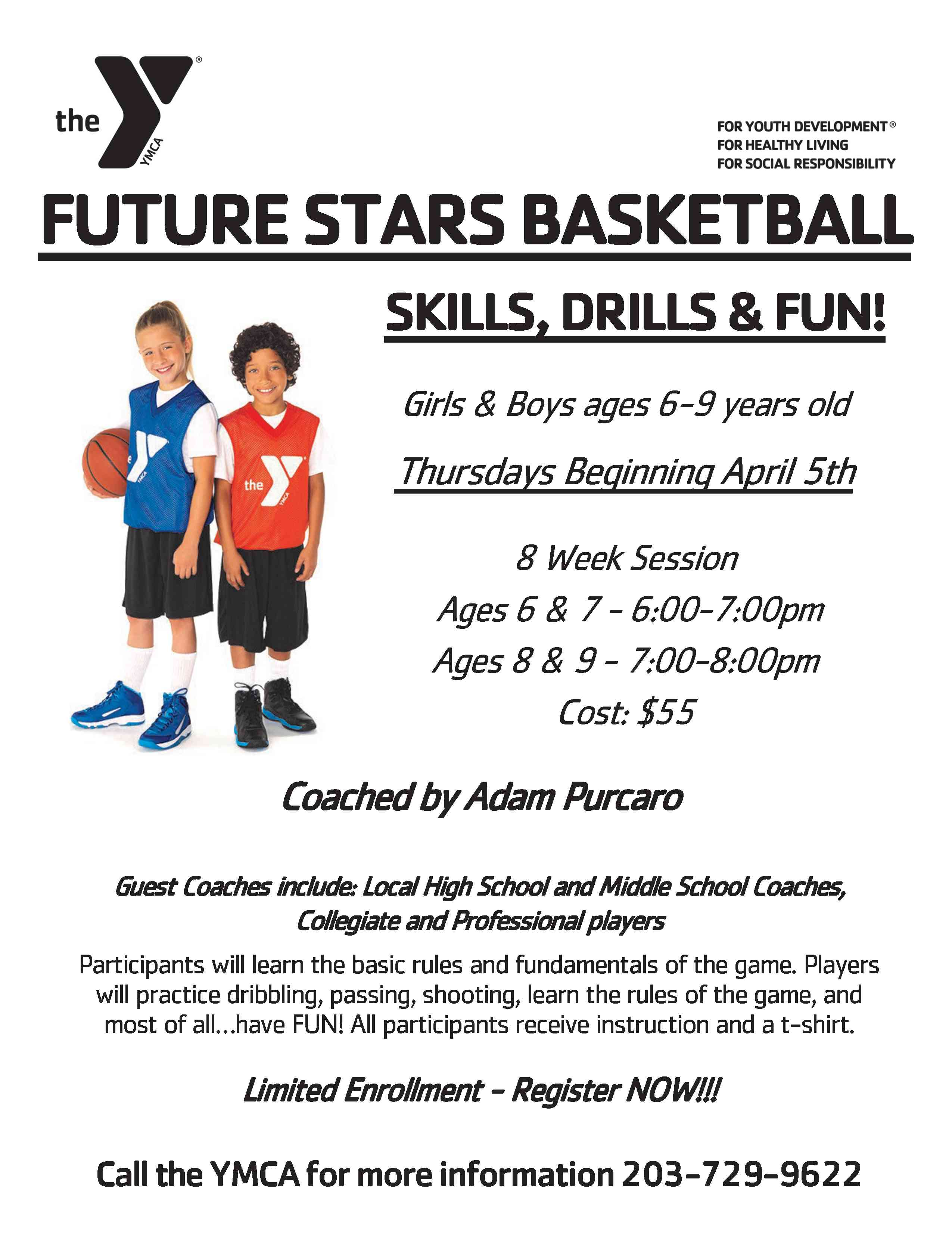 Little Ballers : little, ballers, Future, Stars, Basketball, Flyer, NAUGATUCK