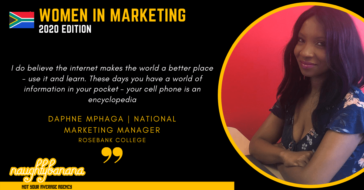 Daphne Mphaga, LinkedIn, Women In Marketing (Black)