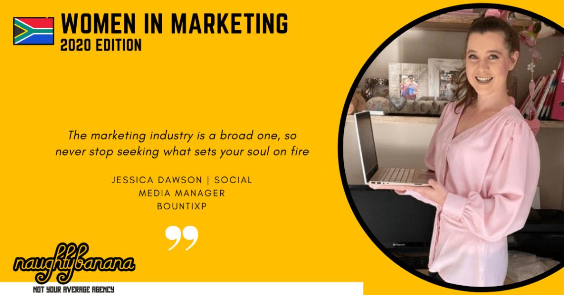 Jessica Dawson LinkedIn, Women In Marketing (Yellow)