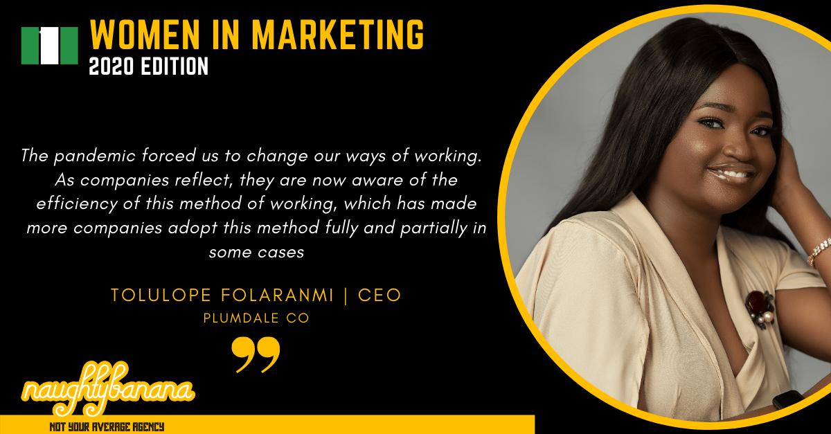 Tolulope Folaranmi, LinkedIn, Women In Marketing (Black)