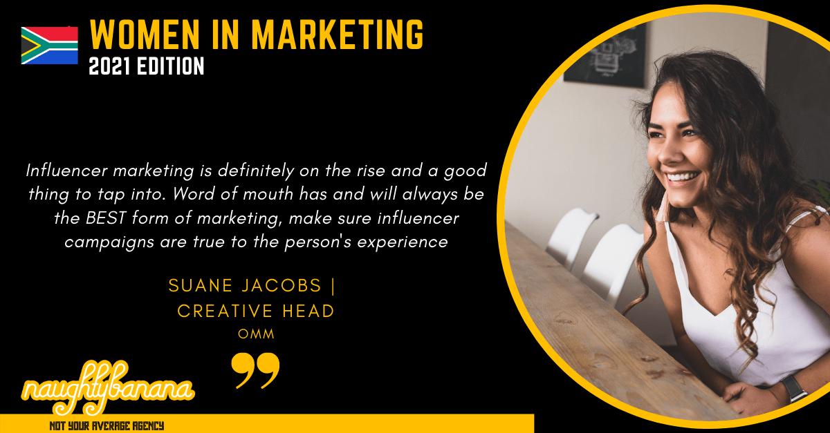 Suane Jacobs , LinkedIn, Women In Marketing (Black)