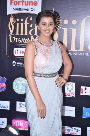 nikki galrani hot in saree at iifa awards 2017DSC_7569