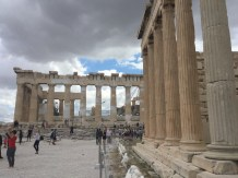 Construction started for the Acropolis in 5th century BC. Besides a fort and a place of royal residence, the Acropolis functioned as a place of worship for the Goddess of fertility and nature, and for her companion male god Erechtheus. (Figure 2)