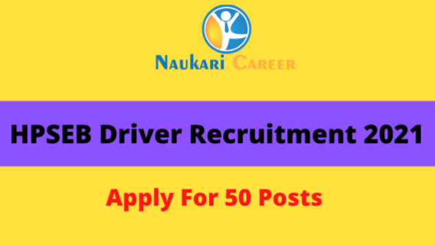 HPSEB Driver Recruitment 2021