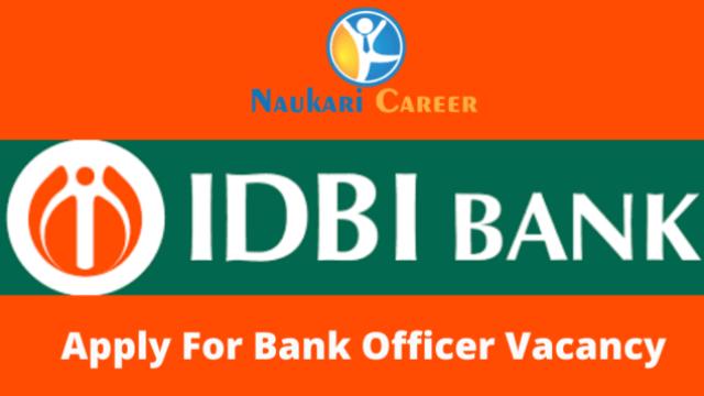 idbi bank officer recruitment