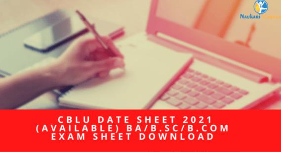 cblu date sheet 2021