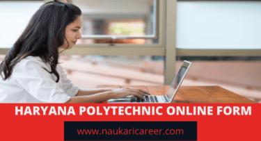 Haryana Polytechnic Online Form