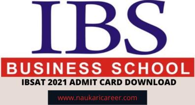 IBSAT 2021 Admit Card