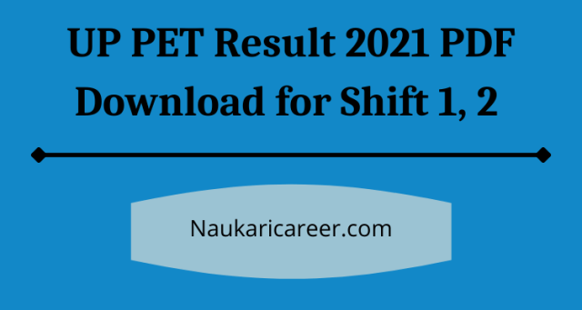 UPSSSC PET Result 2021