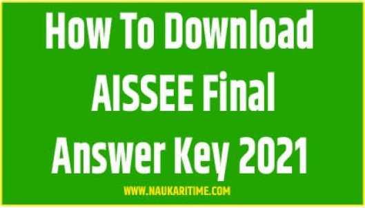 AISSEE Final Answer Key 2021
