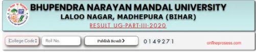 BNMU UG Part 3 Result 2021
