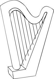 Jak narysować harfę krok po kroku