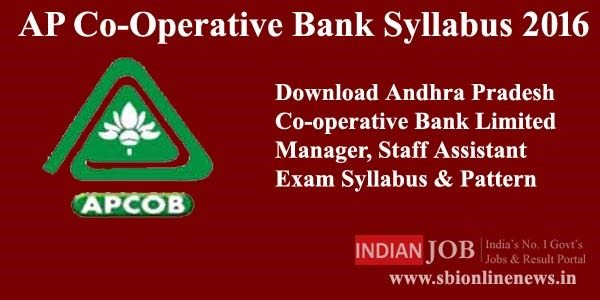 AP Co-Operative Bank Syllabus 2016