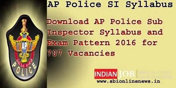 AP Police Sub Inspector Syllabus 2016
