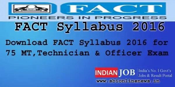 FACT Syllabus 2016