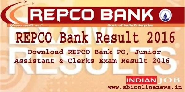 REPCO Bank Result 2016