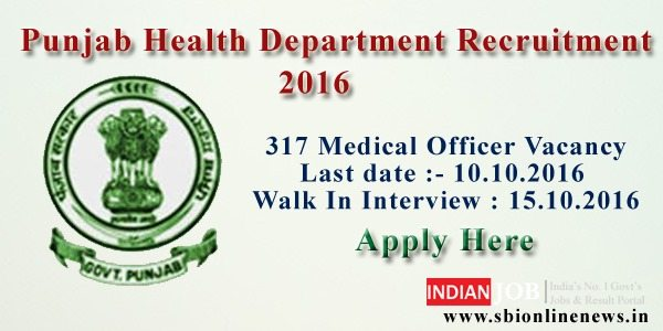 Punjab Health Department Recruitment 2016