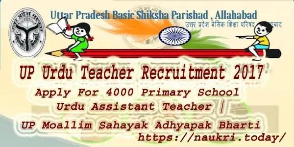 UP Urdu Teacher Recruitment 2017