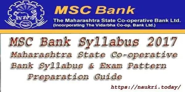 MSC Bank Syllabus 2017