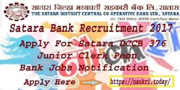 Satara Bank Recruitment 2017