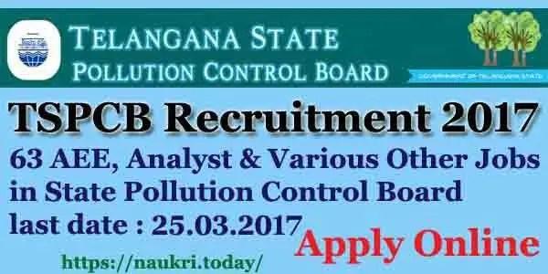 TSPCB Recruitment 2017