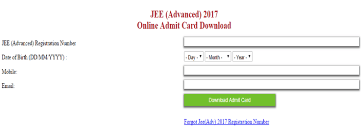 Download JEE Advance May Exam Hall Ticket