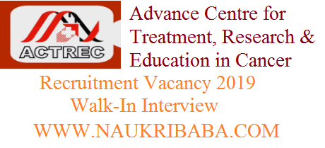 ACTREC jrf recruitment vacancy 2019 WALK-IN
