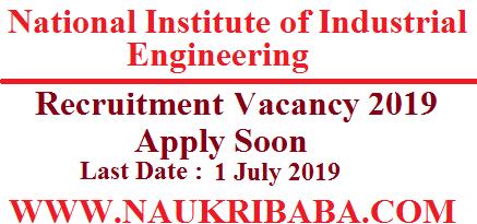 nitie recruitment vacancy 2019