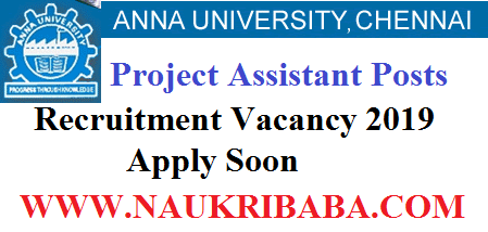 ANNA project ASSISTANT recruitment vacancy 2019 APPLY SOON
