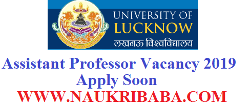 ASSISTANT PROFESSOR LUCKNOW UNIVEWRSITY RECRUITMENT 2019 POSTS APPLY SOON