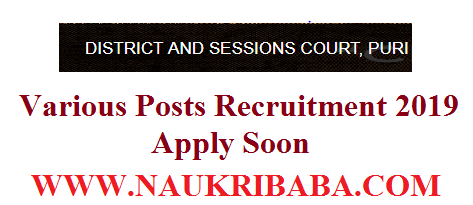 DISTRICT JUDGE VARIOUS POSTS VACANCY 2019apply soon