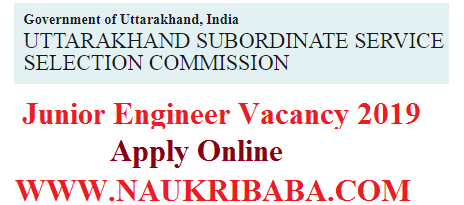 jUNIOR ENGINEER POSTS RECRUITMENT
