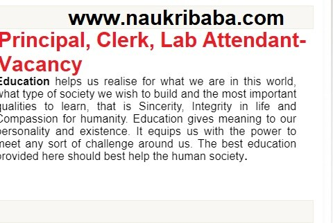 Apply- Principel ,Clerk, Lab Attendant vacancy in Air Force School Avadi, Last Date- 15 February 2021.