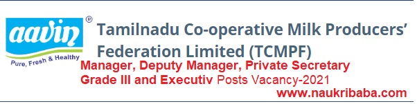 Apply for Manager, Deputy Manager, Private Secretary Grade III Posts in TCMPF