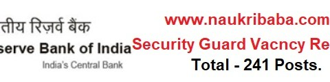 Apply for Security Guard Vacancy in RBI, Last Date- 12/02/2021.