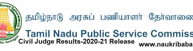 Results of Civil Judge-2021 in TNPSC- Download From Here
