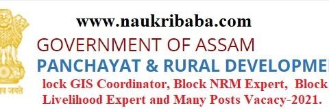 Apply-Block GIS Coordinator, Block NRM Expert, Last Date-16/02/2021