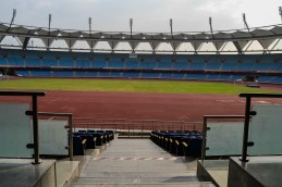Jawaharlal Nehru Stadium a common ground for athlets and children to train for school, state and national level competition.