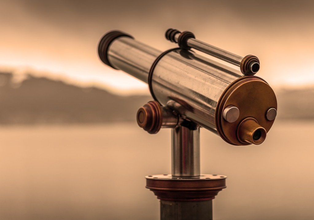 telescope, by looking, view