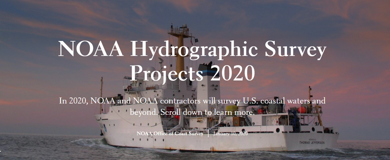 NOAA 2020 Hydrographic Survey Season Story Map Cover