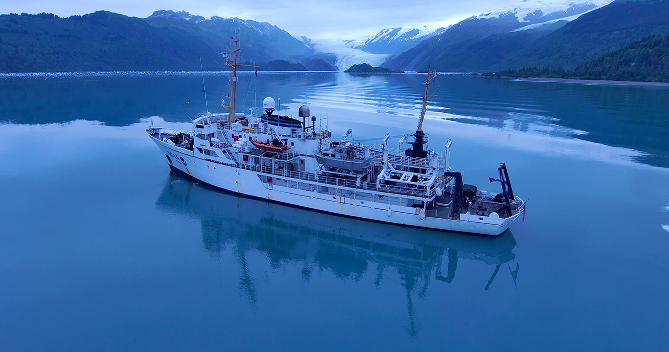 NOAA Ship Fairweather in College Fiord, Alaska