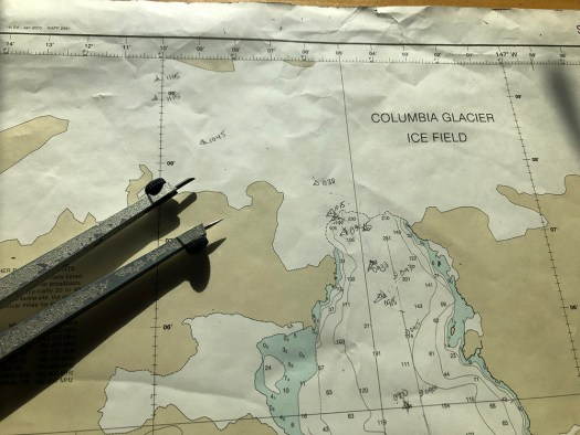 Chart showing Columbia Glacier ice field