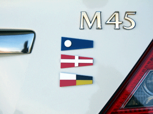 Flags on Car