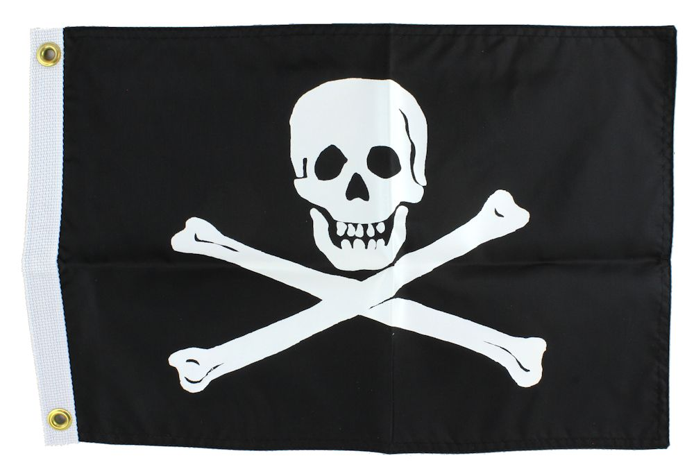 """18"""" Double-Sided Pirate Flag Jolly Roger"""