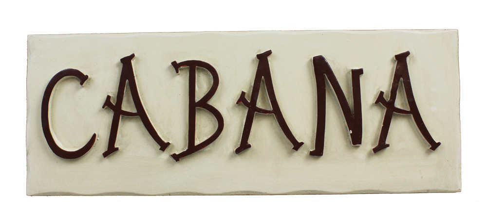 "15.75"" Wooden Cabana Plaque"